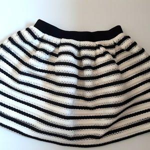 Bardot Junior black stripes skirt